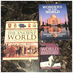 The Ancient World World History Wonders Of The World 3 Book Lot