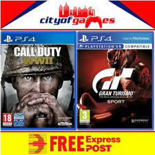 Gran Turismo Sport and Call of Duty WWII Bundle PS4 New & Sealed In Stock