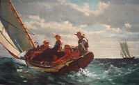 """perfect 36x24 oil painting handpainted on canvas  """"A Fair Wind"""" NO3537"""