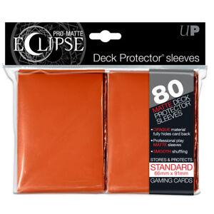 80 Ultra Pro Matte ECLIPSE Deck Protector MTG Pokemon Card Sleeves 85113 Orange