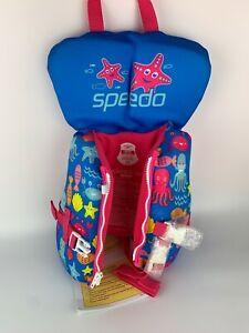 Speedo Infant Up to 30lbs Aquaprene Personal Flotation Device Pink Berry New