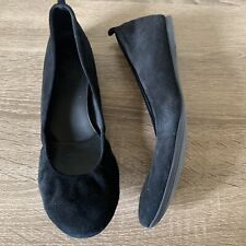 J Crew Black Suede Leather Flats Size 8