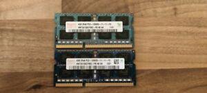 Hynix HMT41GS6BFR8A-PB (8 GB, PC3-12800 (DDR3-1600), DDR3 SDRAM, 1600 MHz, SO...