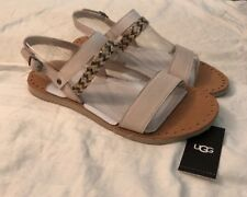 UGG ELIN WOMENS Sandal 1015035 BEIGE  Sz 9 AUTHENTIC NEW*FAST SHIPPING