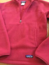 Women's Patagonia Synchilla Marsupial Fleece 1/4-Zip Red pull over size Xs