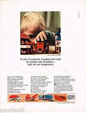 PUBLICITE ADVERTISING 055  1967  LEGO   jeux jouets éducatifs