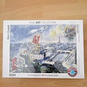 Marc Chagall 1000 Piece Jigsaw Puzzle View of Paris Eurographics New Sealed