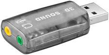 USB 2.0 Soundkarte / Audio Adapter / Headset Adapter; USB - Soundcard 2.0
