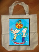 """Phineas and Ferb"" Custom Personalized Birthday Tote Bag Party Favor - NEW"