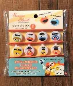 Pick Food  Sesame Street Fork Picks BENTO Lunch box Accessories 8pcs White