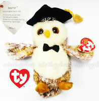 Ty Beanie Baby Original Smarter Babies Owl Class of 2002 Plush Retired with TAGS