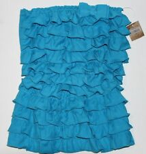 NWT HOLLISTER by Abercrombie Womens Ruffle Tube Top Turquoise XS