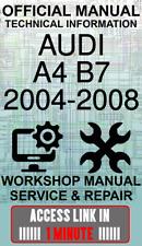 #ACCESS LINK OFFICIAL WORKSHOP MANUAL SERVICE & REPAIR AUDI A4 B7 2004-2008