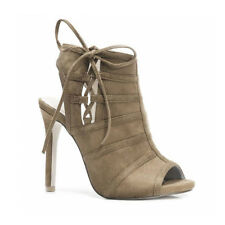 Womens Ladies High Heel PEEP Toe Cut out Ankle Boot Sanals Shoes Size 2-7 UK 4 Khaki