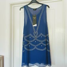 Kate Moss for Topshop Limited Edition Hand Beaded Dress Tunic uk14 BNWT festival