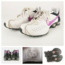 NIKE Shox Classic II Womens White/Black/Purple Running Sneaker 343907-151 SZ 10