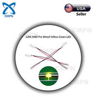20Pcs 1206 3216 Pre Wired SMT SMD LED Chip Yellow Green Light Lamp Micro Diodes