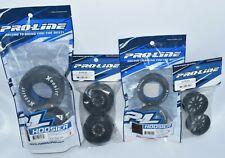 Pro-Line Front Rear Hoosier Drag S3 Tire Wheel Set SC10 Slash LCG No Prep Hex RC