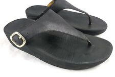 Fitflop The Skinny 458-001 Thong Sandal Women US 5 Eu 36 Flip Flops Buckle 96-12