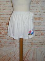 vintage 90s deadstock tennis skirt size 8-10 Steffi Graf white gathered BNWT