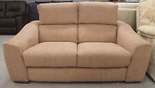 Furniture Village Elixir Light Brown Fabric 2 Seater Sofa
