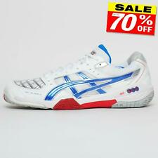 Asics Gel Blade 4 Para hombres Pro Performance Squash Court Shoes Trainers Blanco