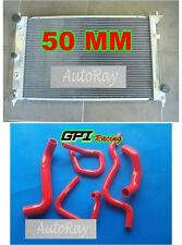 50MM Aluminum Radiator & hoses for Ford Falcon BA BF V8 Fairmont XR8 &XR6 Turbo