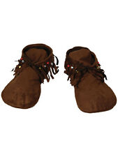Moccasins Moccasin Shoes Indian Hippy 1970s Fancy Dress Mens Accessory UK 6-9