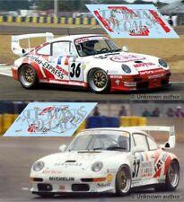 Decals Porsche 911 GT2 evo Le Mans 1995 1:32 1:43 1:24 1:18 slot calcas