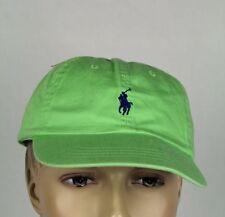 Polo Ralph Lauren Lime Green Navy Blue Pony Baseball Ball Cap Hat NWT