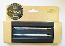 Boots Threads Designed by Totes Aluminium Cased Pen and Pencil Set NEW & BOXED