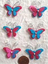 12 Butterflies butterfly Mulberry Paper Batik Handmade turquoise fuchsia crafts