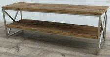 Media / TV Unit - Silver Iron & Reclaimed Railway Sleeper Wood - 140 cm Long