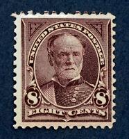 Scott US #272 - 1895 Bureau Issue, Sherman, 8 Cents,  Mint  Hinged; OG; CV=$70