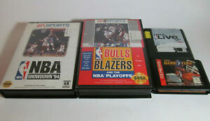 NBA HangTime & Showdown 94 & Bulls Vs Blazers & NBA Live 96 (Sega Genesis, 1996)