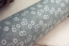 """Handmade Paper 20"""" x 30""""  Silver Green Daisy set of 3 Floral Print"""