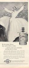 1958 4711 Cologne Perfume VIntage Bottle PRINT AD