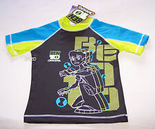 Ben 10 Omniverse Boys Grey Blue Printed Rash Vest Size 4 New