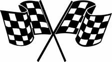 Motorsport Adesivo Vinile Bandiera Motor Sport Rally Auto Sponsor Decalcomania x 2