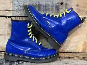 Doc Dr Martens 1460W Royal Blue Patent Leather Ankle Boots US 7 EU 38  UK 5