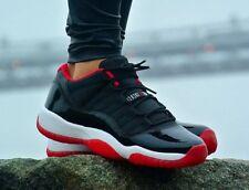 Air Jordan XI 11 Retro Low Black/True Red-White Bred 528895-012 Sz Size 10