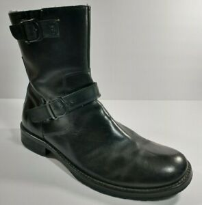 Red Tape Salisbury Men's Harness Black Buckle Biker Boots Size 12