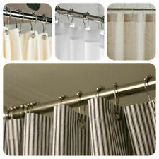 12x Bathroom Convenient Rollerball Bronze Poles Rod Shower Curtain Rings Hooks