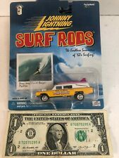 Johnny Lightning Surf Rods: Yellow Santa Monica Maniacs - 2000