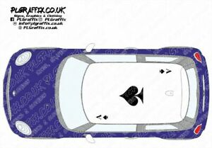 Mini Ace of Spades Roof graphics stickers decals F56 One Cooper