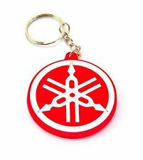 1 RUBBER YAMAHA MOTORCYCLE KEYCHAIN KEY RING RED