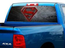 P503 Superman Rear Window Tint Graphic Decal Wrap Back Truck Tailgate