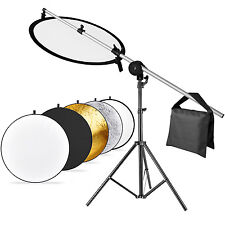"Neewer 43"" 5-in-1 Multi Photo Reflector Kit with Arm Support Light Stand Sandbag"