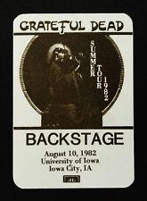 Grateful Dead Backstage Pass Iowa Hawkeyes Blues For Allah Garris Art 8/10/1982