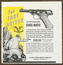 1959 Hi-Standard Dura-Matic Pistol Print Ad For Fast Action